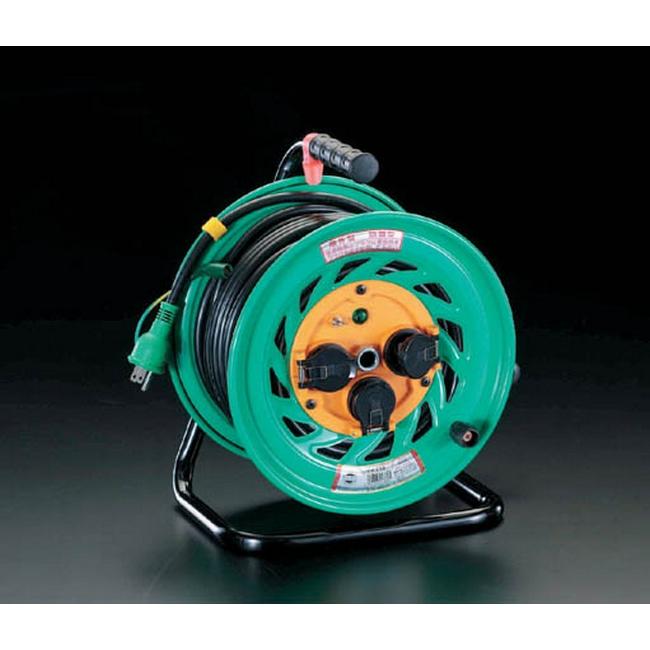 ESCO エスコ 100Vx30m[アース付/防雨型]電工ドラム