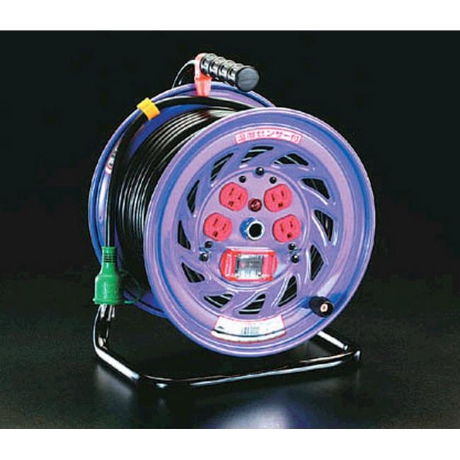 ESCO エスコ 100Vx30m[過負荷漏電遮断]電工ドラム