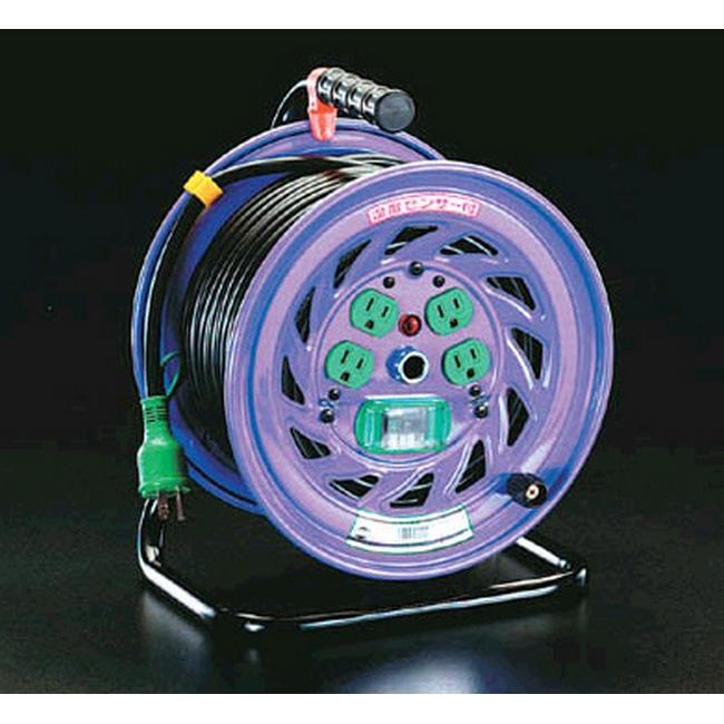ESCO エスコ 100Vx30m[漏電遮断器付]電工ドラム