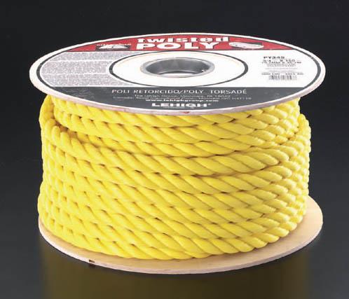 ESCO エスコ トランポ用品 16mmx60mポリロープ(黄)