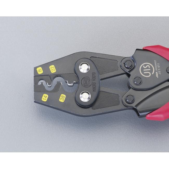 ESCO エスコ その他、配線用ツール 8/38mm2圧着ペンチ(裸端子用)