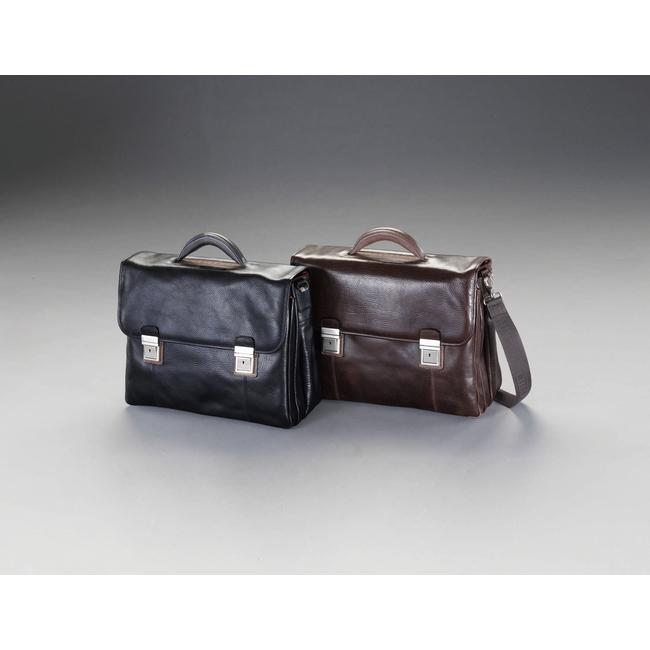 ESCO エスコ その他の工具 420x150x300mmビジネスバッグ(本革製/ブラック)