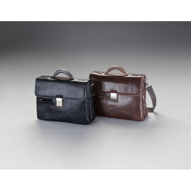 ESCO エスコ その他の工具 400x120x300mmビジネスバッグ(本革製/ブラック)