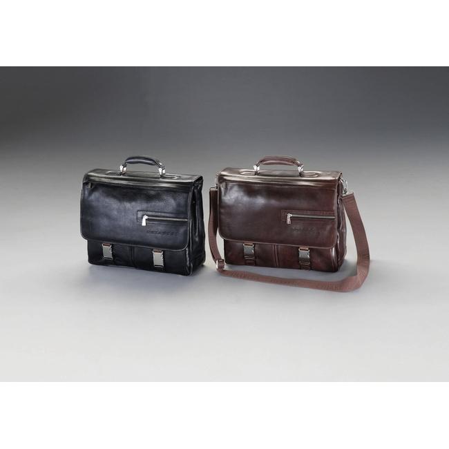 ESCO エスコ その他の工具 400x140x300mmビジネスバッグ(本革製/ブラウン)