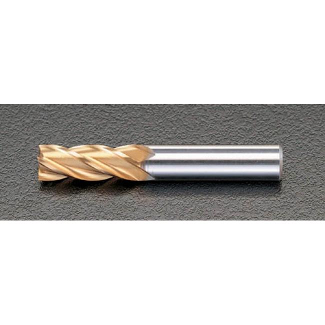 ESCO エスコ 工具 20.0mm[TiN]coHSS4枚刃エンドミル