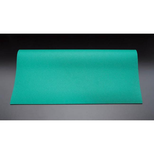 ESCO エスコ 1000x5000x2mm[緑]導電性マット