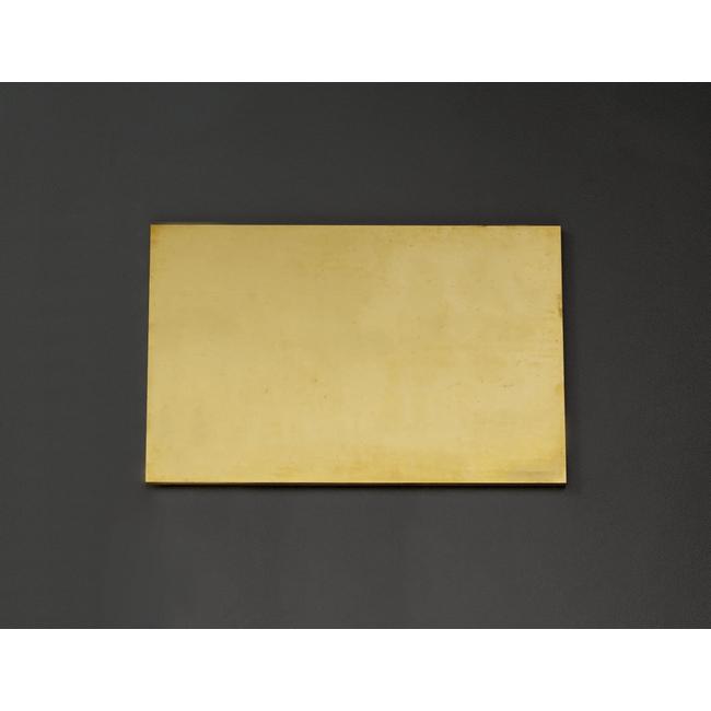 ESCO エスコ 300x300x5mm黄銅板