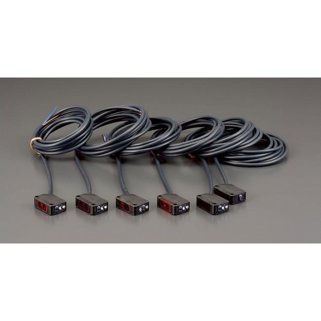 ESCO エスコ 工具 アンプ内蔵型光電センサー(回帰反射型)