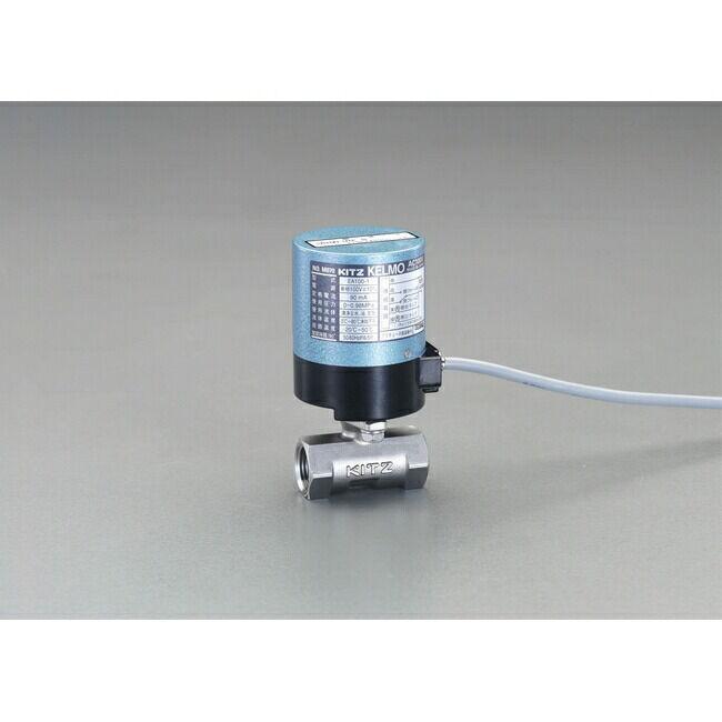 ESCO エスコ 工具 Rc1-1/4 電動式ボールバルブ(AC100V/ステンレス)
