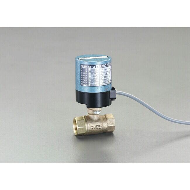 ESCO エスコ Rc1-1/4 電動式ボールバルブ(AC100V)