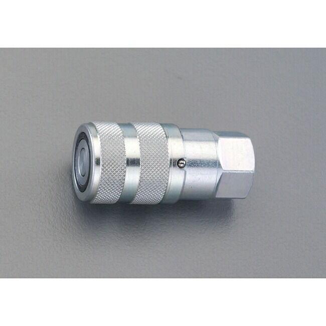 ESCO エスコ 工具 G3/8 油圧用雌ねじソケット(漏れ防止機構)