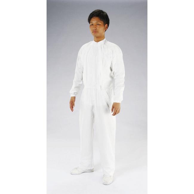 ESCO エスコ [M]クリーンルーム用継ぎ作業服(青/サイドファスナー)