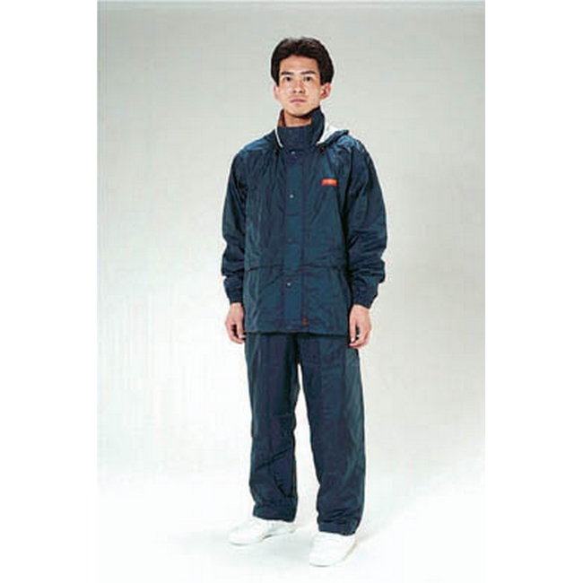 ESCO エスコ [4L]透湿型レインスーツ(ネイビー)