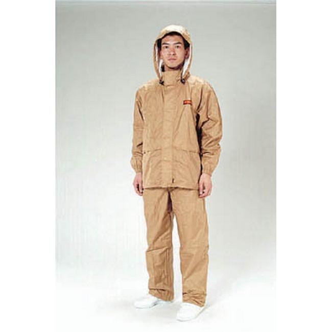 ESCO エスコ その他の工具 [3L]透湿型レインスーツ(カーキ)