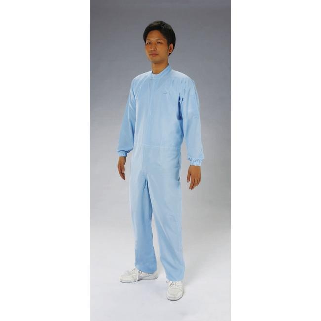 ESCO エスコ [3L]クリーンルーム用清涼継ぎ服(青/センターファスナー)