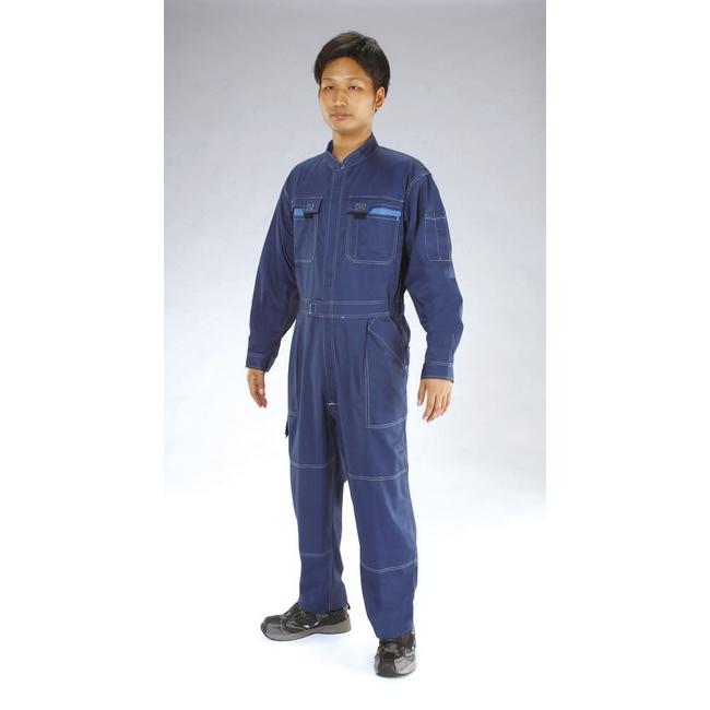 ESCO エスコ [L]継ぎ作業服(帯電防止/ネイビー)