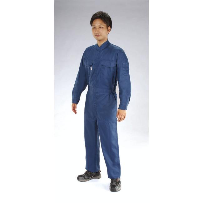 ESCO エスコ [M]継ぎ作業服(帯電防止/ネイビー)