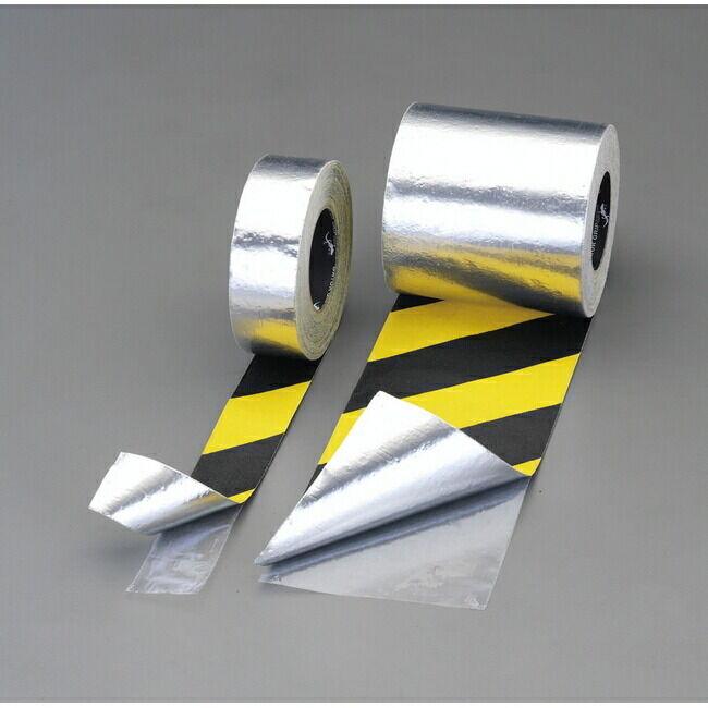 ESCO エスコ 50mmx18.3m滑り止めテープ(裏面アルミ/トラ)