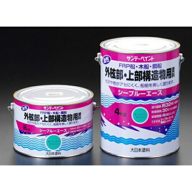 ESCO エスコ 4.0kg油性塗料/上部構造物[青]