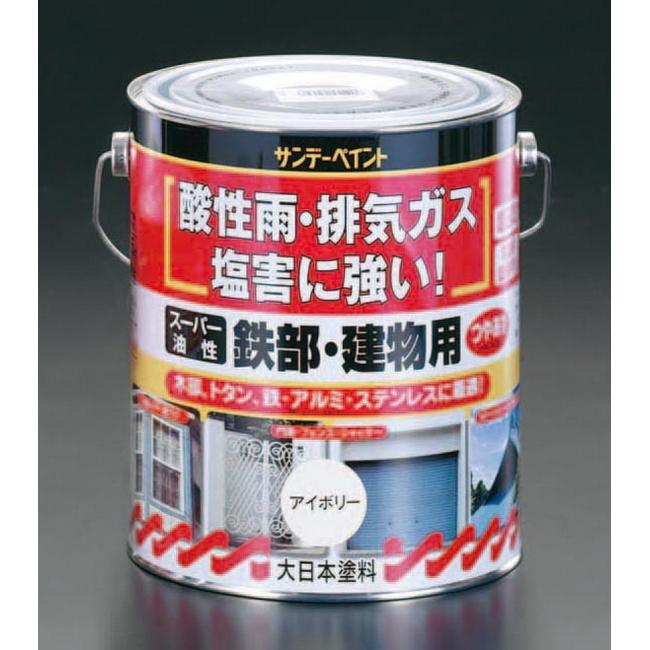 ESCO エスコ 工具 14L[油性]多目的塗料/鉄部・建物用[白]