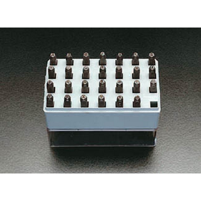 ESCO エスコ 0.8mm英字刻印セット