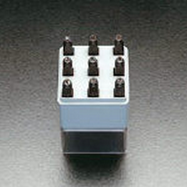ESCO エスコ 15.9mm数字刻印セット