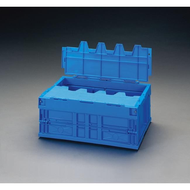 ESCO エスコ その他の工具 530x366x397mm/61.7L折畳コンテナ(青蓋付)