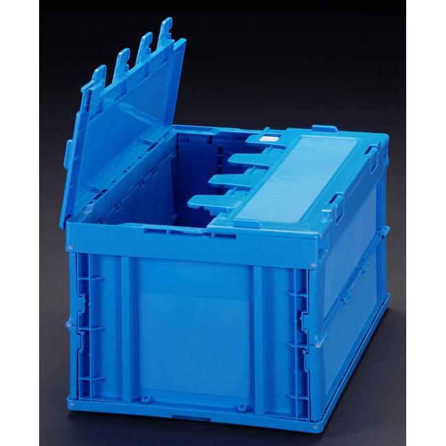 ESCO エスコ その他の工具 430x366x342mm/51.6L折畳コンテナ(青/蓋付)5個