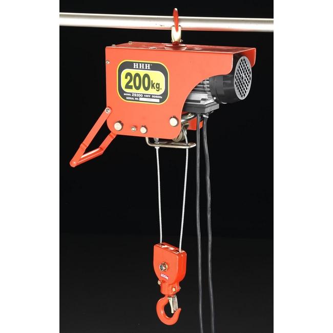 ESCO エスコ 工具 200kgx6m電気ホイスト