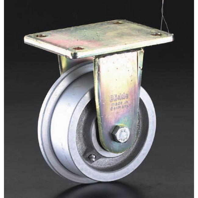 ESCO エスコ その他の工具 125mmスティール車輪キャスター(レール用)
