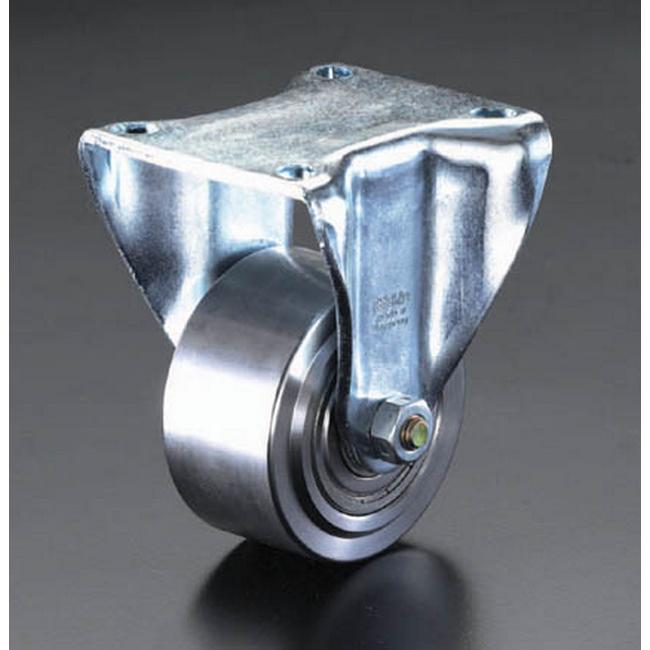 ESCO エスコ 100mm[固定金具]スティール車輪キャスター