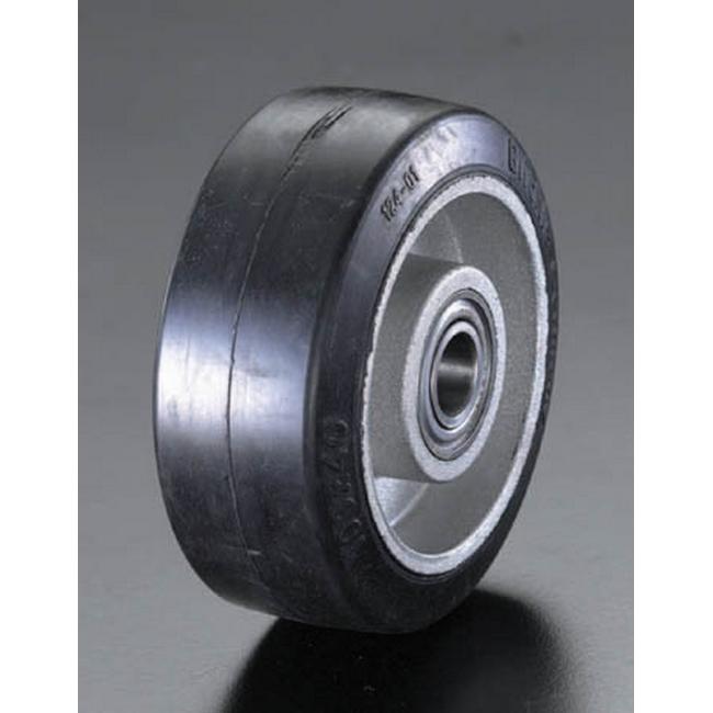 【クーポン配布中】ESCO エスコ 250x50mmラバータイヤ・アルミ車輪