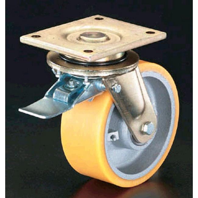 ESCO エスコ その他の工具 250mm自在金具キャスター(ブレーキ付)