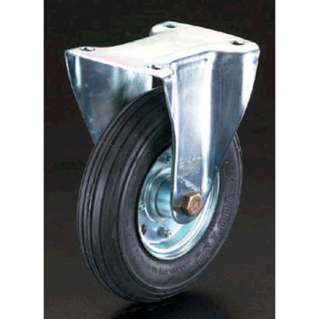 ESCO エスコ その他の工具 260mm固定金具キャスター(空気入車輪)