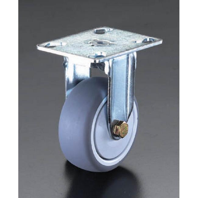 ESCO エスコ 150mm固定金具キャスター(ホイールカバー付)
