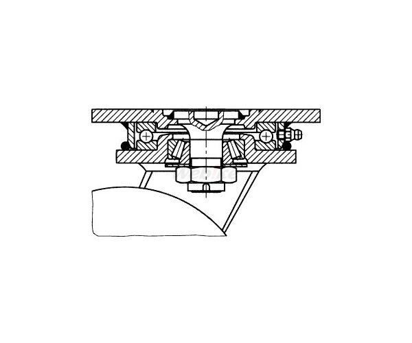 ESCO エスコ その他の工具 420mm自在金具キャスター(空気入車輪)