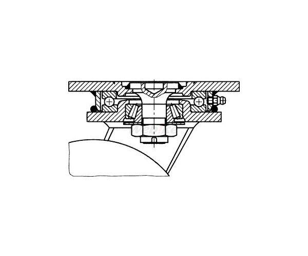 【クーポン配布中】ESCO エスコ 420mm自在金具キャスター(空気入車輪/B付)