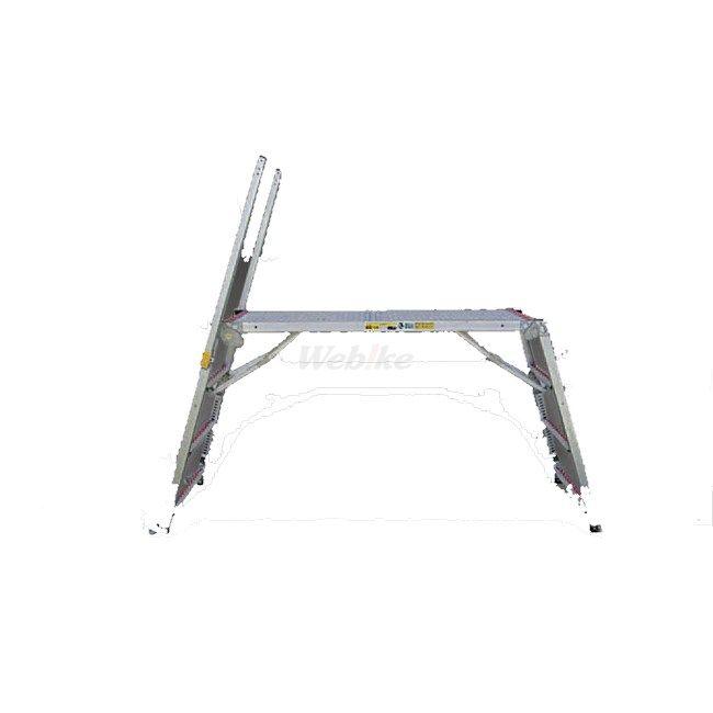 ESCO エスコ 工具 112-148cm足場台(取手4本・調整脚・キャスター付)