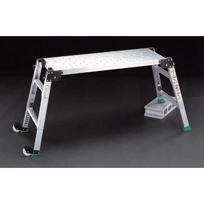 ESCO エスコ その他の工具 92-122cm足場台(調整脚・キャスター付)