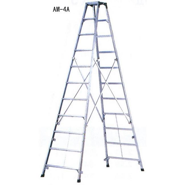 ESCO エスコ 工具 3.87m[アルミ製]脚立(ワイドステップ)
