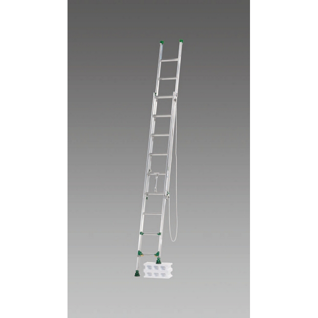 ESCO エスコ その他の工具 3.12m[脚伸縮式]二連はしご