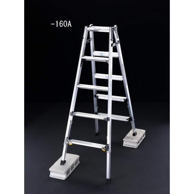 ESCO エスコ その他の工具 157cm伸縮式ハシゴ兼用脚立(ワイドステップ)