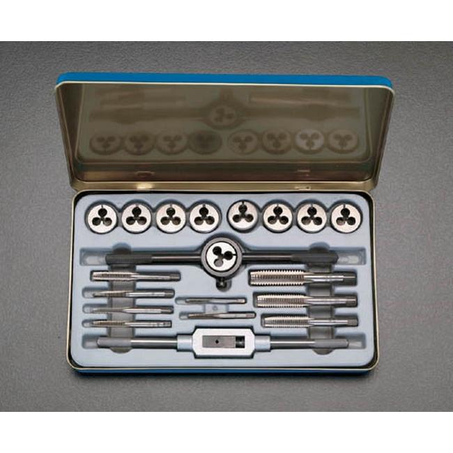 ESCO エスコ 工具 [1/8-1/2 ][BSW]タップダイスセット