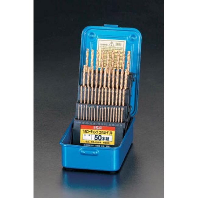 ESCO エスコ その他の工具 1.0-5.9mm50本組ドリル(Tin-CoHSS)