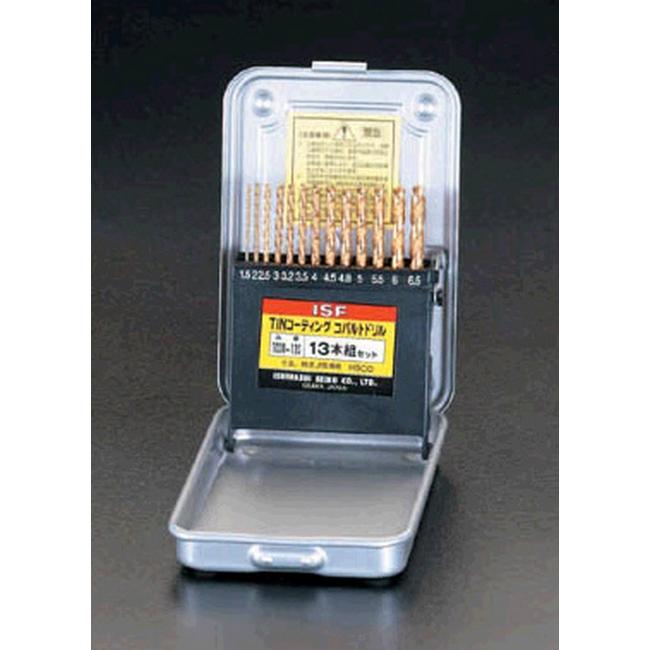 ESCO エスコ 1.5-6.5mm13本組ドリル(Tin-CoHSS)