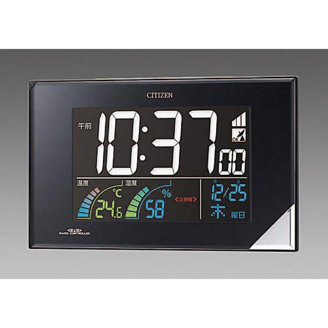 ESCO エスコ その他の工具 112x196x30mm[電波]掛・置兼用時計