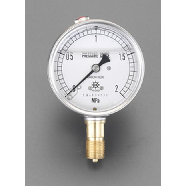 ESCO エスコ 100mm/0-25MPa圧力計(グリセリン入)