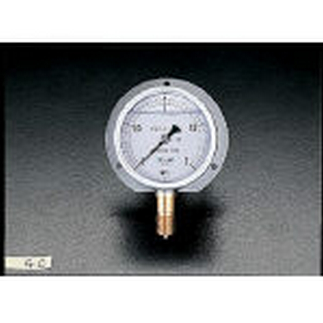ESCO エスコ 工具 75mm/0-2.0MPaつば付圧力計(耐震型)