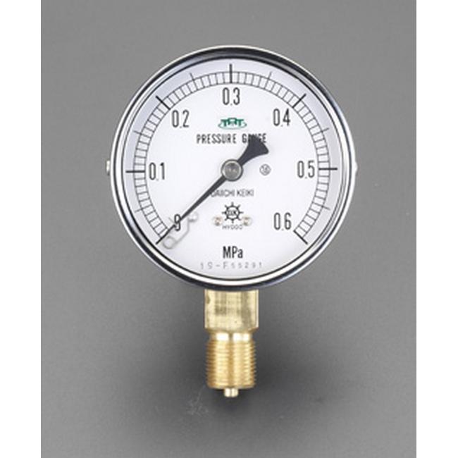 ESCO エスコ 75mm/0-10MPa圧力計(耐脈動圧型)