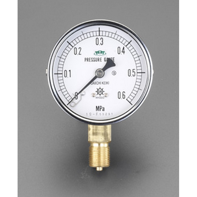 ESCO エスコ その他の工具 75mm/0-0.6MPa圧力計(耐脈動圧形)